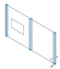 Wie werden Fassaden und Fassadenprofile in Advance Steel erstellt?