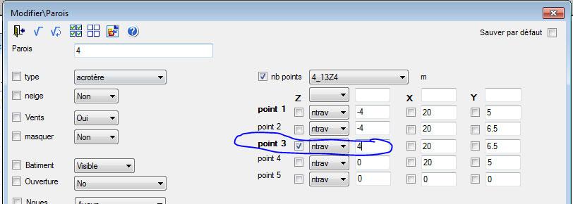 Comment modifier les parois d'acrotères ?