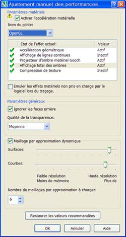 Comment configurer correctement les paramètres d'affichage d'AutoCAD