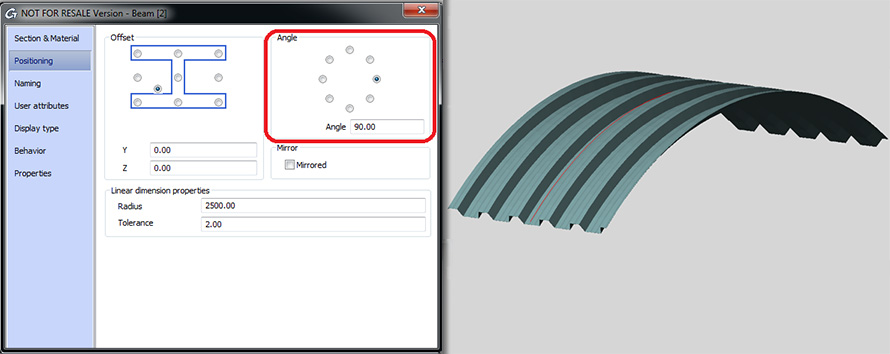 How is a cladding sheet defined on a curved surface?