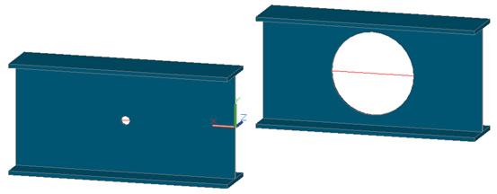 Comment choisir si Advance Steel doit créer un trou ou une découpe circulaire dans les fichiers DSTV ?