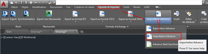 Comment faire un export d'Advance Design vers Advance Steel ?