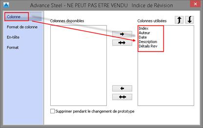 Comment incorporer un tableau de révision dans un prototype ?