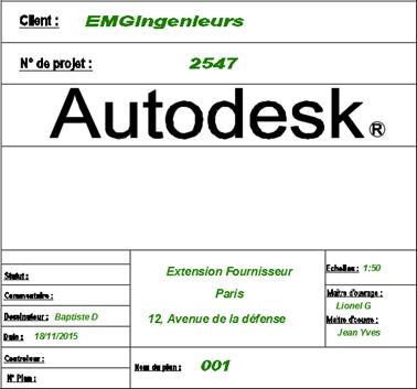Autodesk advance steel comment faire appara tre les for Un cartouche architecture