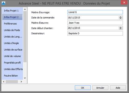 Comment faire apparaître les principales informations de mon projet dans le cartouche de mes plans ?
