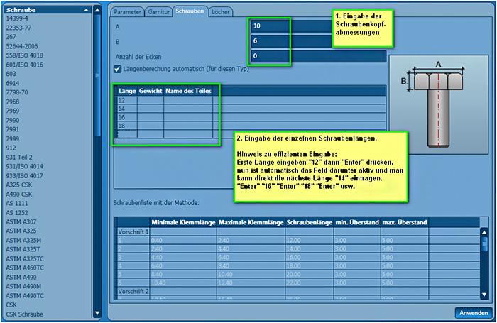 Wie können innerhalb des GRAITEC Advance Managers weitere Schraubenreihen hinzugefügt werden?