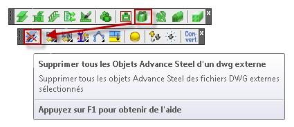 Comment supprimer les objets Advance Steel d'un fichier DWG ?