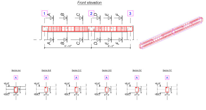 How do I create a custom style for positioning views  in reinforcement drawings?