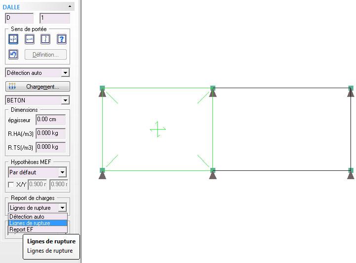 Pourquoi la fonction « Calcul en travée chargée - déchargée » est-elle grisée dans les hypothèses de la méthode traditionnelle ?