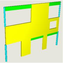 Comment paramétrer manuellement la rigidité horizontale en pied d'un voile super-élément modélisé en poutre équivalente