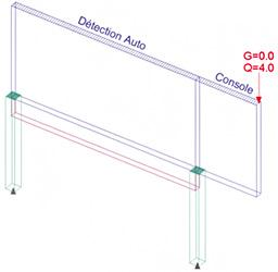 Comment équilibrer un voile-drapeau dans Arche Ossature?