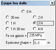 Comment faire pour prendre en compte les aciers doux en fonction de l'icône « Fe sur appuis » dans le menu « Hypothèses / Coupe Feu »