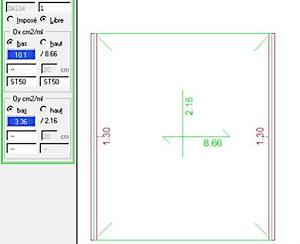 Comment recalculer la flèche après modification d'un acier ?