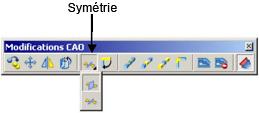 Quelles sont les différents modes de symétrie avec Advance Structure