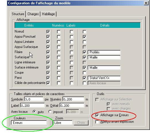 Comment n'afficher que les éléments comportant des erreurs après une vérification ou une expertise