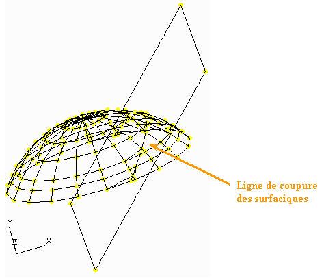 Comment découper un élément surfacique révolutionnaire le long d'un plan dans Effel Structure