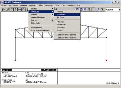 Comment ajouter des acrotères sur un portique existant ou un treillis généré par un assistant