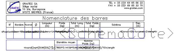 Comment créer une nomenclature (nomenclature d'aciers ou d'éléments de structure)