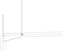 Comment utiliser le label ACROTERE pour prendre en compte des accumulations de neige dans le cas d'une structure 2D