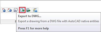 How are Advance Concrete files exported to DWG?
