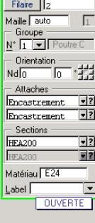 Comment modéliser une façade ouverte en portique 2D