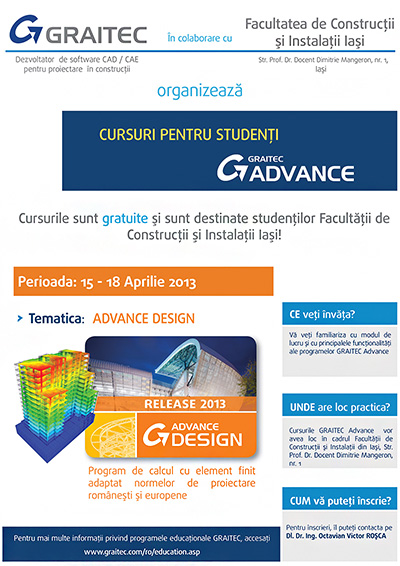 Curs Advance Design Basic la Iaşi