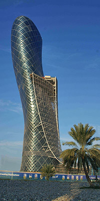 Steel-Glass façade for the most inclined Tower of the world