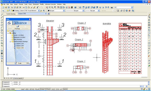 GRAITEC launches 'Advance Concrete 8.1', a new version of its software for creating concrete structures in AutoCAD