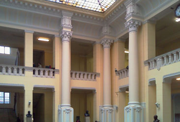 Central hall of Building K, the most ancient part of Budapest Technical University