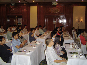 Attendees during the product presentation