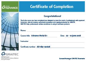 Diploma Training GRAITEC Advance