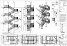 Treppenhaus, konstruiert von Marshall stairs (GB)