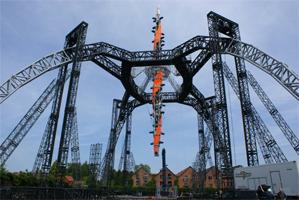 Konzertbühne für 360° Tour von U2