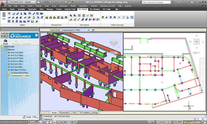 Advance Concrete: Kompatibilität mit AutoCAD® 2011