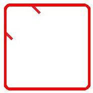 Advance Concrete: Darstellung eines rechtwinkligen Rahmens mit 90° Haken
