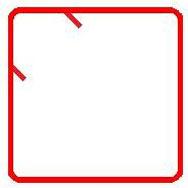 Advance Concrete: représentation des crosses à 90º