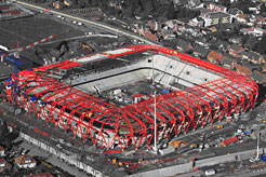 Neues Stadion in Valenciennes mit Advance Steel modelliert