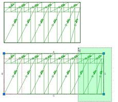 """Advance Concrete - Modification des répartitions de panneaux de treillis soudés avec la fonction """"étirer"""" d'AutoCAD®"""
