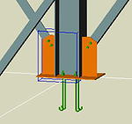Cum se grupează îmbinările predefinite în Advance Steel?