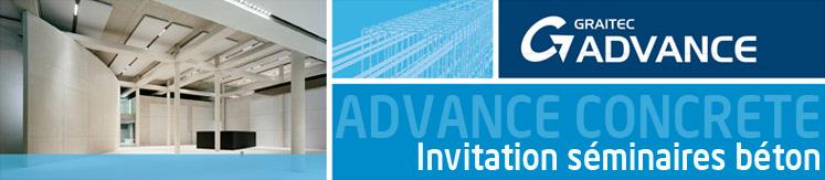 Advance Concrete - Invitation séminaires béton