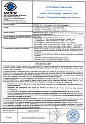 SOCOTEC - Attestation d'évaluation - Béton EC2