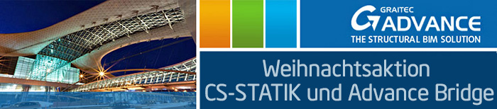 Weihnachtsaktion CS-STATIK und Advance Bridge