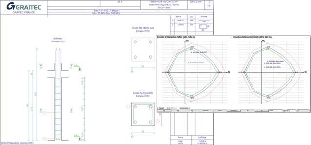 Arche 2013 - Cartouche de plan de ferraillage