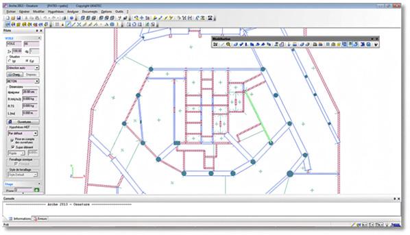ARCHE OSSATURE 2013 : nouvelles barres d'outils