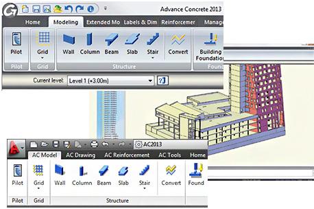 Advance Concrete 2013 - Advance Concrete 2013 kann mit oder ohne AutoCAD® verwendet werden