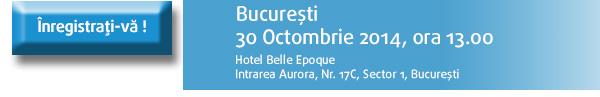 Inregistrati-va la seminariul din Bucuresti