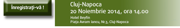 Inregistrati-va la seminariul din Cluj-Napoca
