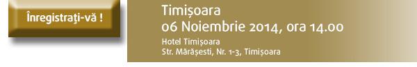 Inregistrati-va la seminariul din Timisoara