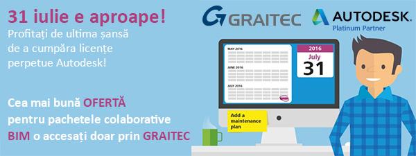 GRAITEC | Profitaţi de ultima şansă de a cumpăra licenţe perpetue Autodesk