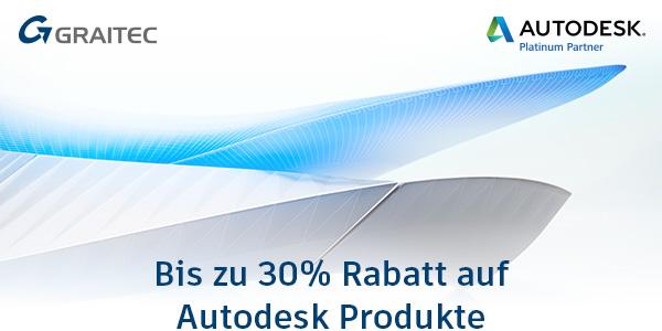 Bis zu 30% Rabatt auf Autodesk Produkte